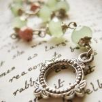 Bracelet of pastel green and pink C..